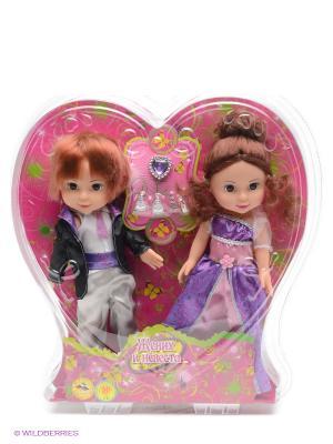 Набор из 2-х кукол Карапуз. Цвет: фуксия