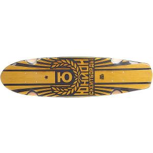 Дека для скейтборда лонгборда  Sunset Yellow/Black 7.6 x 29.5 (75 см) Юнион. Цвет: черный,желтый