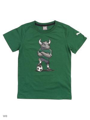 Футболка FK Krasnodar Fan Tee Puma. Цвет: зеленый