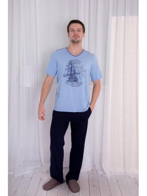 Домашний костюм BASIL. Цвет: голубой, синий
