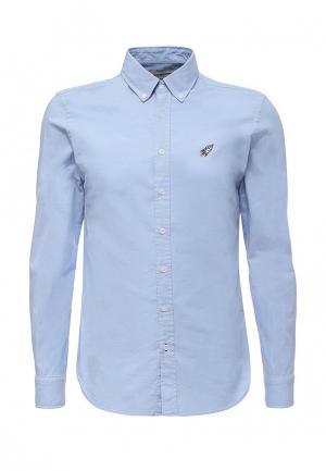 Рубашка Mango Man. Цвет: голубой