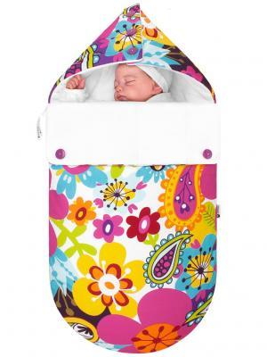 Конверт для новорождённого Эдельвейс (демисезонный) MIKKIMAMA. Цвет: салатовый, голубой, фиолетовый, красный, фуксия, розовый, желтый, белый