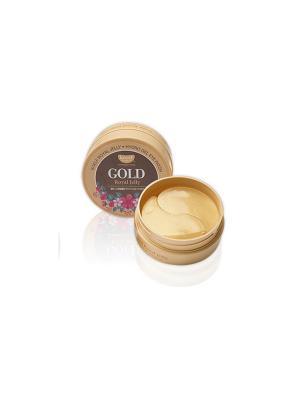 Гидрогелевые патчи для глаз с пчелиным молочком и коллоидным золотом 60 шт Koelf. Цвет: золотистый