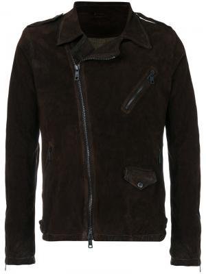 Куртка со смещенной застежкой Giorgio Brato. Цвет: коричневый