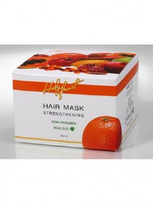 Маска укрепляющая Апельсин (для жирных волос ) Strengthening Hair Mask, Holy Fruit. Цвет: оранжевый
