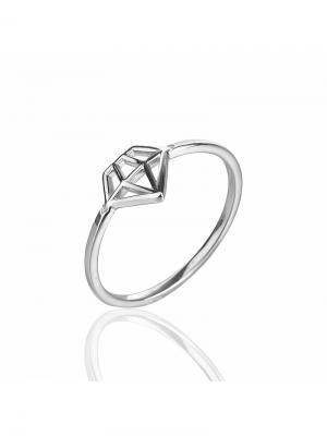 Фаланговое кольцо Бриллиант KU&KU. Цвет: серебристый