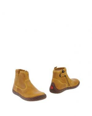 Полусапоги и высокие ботинки POM D'API. Цвет: охра