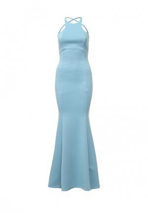 Платье Goddiva. Цвет: голубой