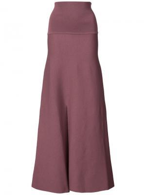 Расклешенные брюки с завышенной талией Lemaire. Цвет: розовый и фиолетовый