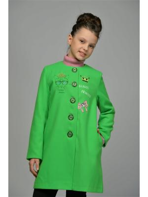 Пальто DESTY. Цвет: зеленый