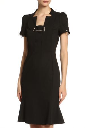Платье с декором цепочки Vitacci. Цвет: черный