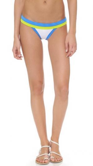 Плавки бикини Amalfi с цветными блоками Milly. Цвет: голубой