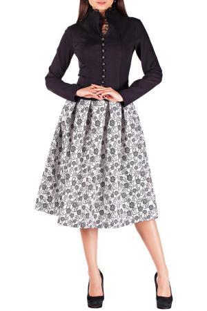 Комплект с юбкой Mannon. Цвет: розы на белом