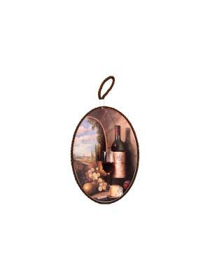 Подставка под горячее Виноград и вино Elan Gallery. Цвет: коричневый