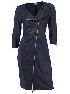 Платье-футляр MANDARIN. Цвет: темно-синий