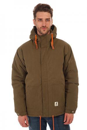 Куртка зимняя  Sailor Army-orange Fat Moose. Цвет: зеленый