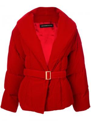 Свободная дутая куртка Alexandre Vauthier. Цвет: красный