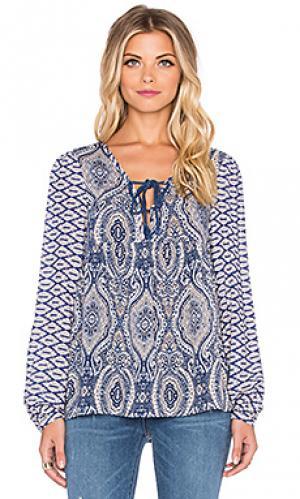 Крестьянская рубаха spirit The Allflower Creative. Цвет: синий