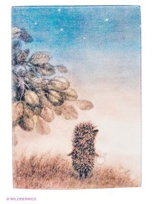 Обложка для автодокументов Ежик ночью Mitya Veselkov. Цвет: коричневый, голубой