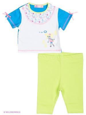 Комплекты одежды Апрель. Цвет: салатовый, белый, розовый