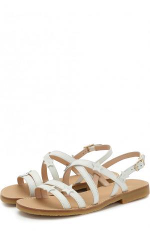 Кожаные сандалии на ремешке Il Gufo. Цвет: белый