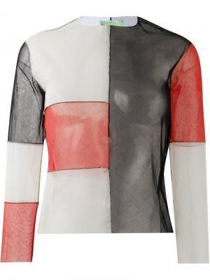 Блузка колор-блок Aries. Цвет: чёрный