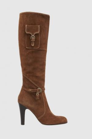 Замшевые сапоги Juicy Couture. Цвет: оранжевый