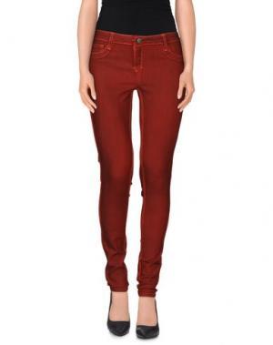 Повседневные брюки BLEULAB. Цвет: кирпично-красный