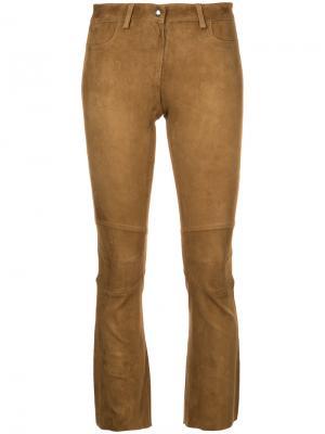 Укороченные брюки Sylvie Schimmel. Цвет: коричневый