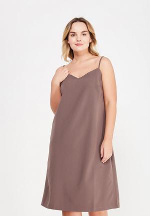 Платье МатильДа. Цвет: коричневый