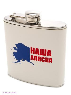 Фляжка ФлагоФляга Наша Аляска Экспедиция. Цвет: белый