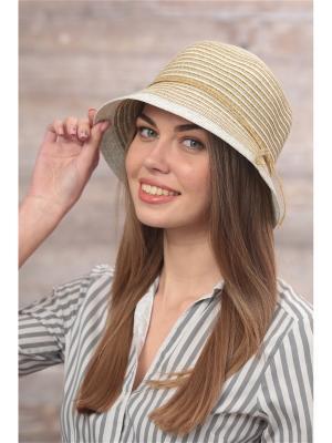 Шляпа FOMAS. Цвет: белый, золотистый