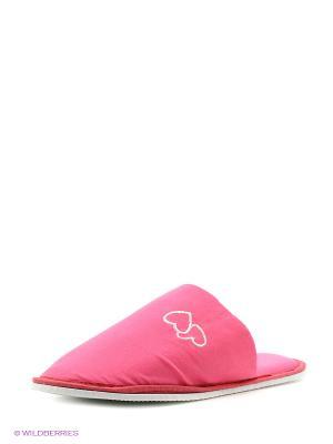 Тапочки домашние Dream time. Цвет: розовый