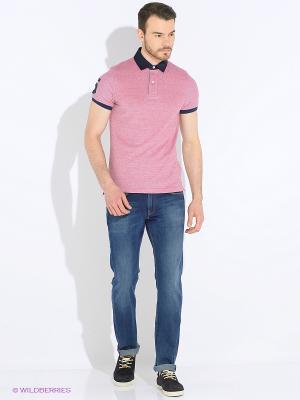 Футболка-поло Tommy Hilfiger. Цвет: бледно-розовый, красный, темно-красный