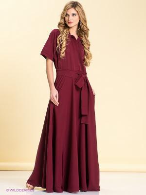 Платье LOVE&LIGHT. Цвет: темно-бордовый