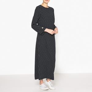 Платье длинное в горох CAFE BIS LAURENCE BRAS. Цвет: черный