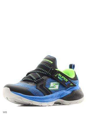 Кроссовки SKECHERS. Цвет: черный, голубой, зеленый