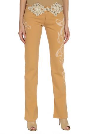 Прямые брюки с застежкой на молнию Voyage. Цвет: 0009, бежевый