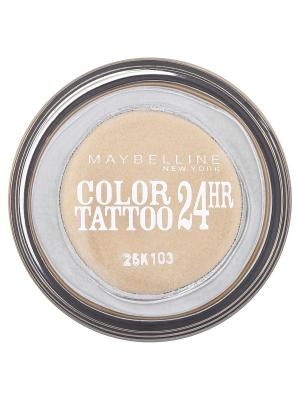 Тени для век Color Tattoo 24 часа, оттенок 05, Вечное золото, 4 мл Maybelline New York. Цвет: золотистый
