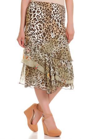 Юбка Elisa Fanti. Цвет: леопардовый