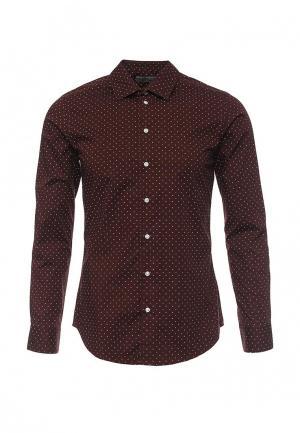 Рубашка Piazza Italia. Цвет: коричневый