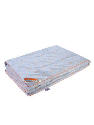 Одеяло Лебяжий пух 200*220см. 1st Home. Цвет: голубой, золотистый