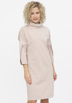 Платье TzeTze. Цвет: бежевый