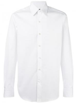 Классическая рубашка Berluti. Цвет: белый
