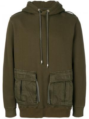 Толстовка с накладными карманами Cy Choi. Цвет: зелёный
