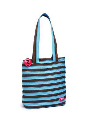Сумка Premium Tote/Beach Bag, цвет голубой/коричневый ZIPIT. Цвет: голубой, коричневый