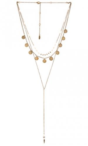 Ожерелье blessed be Ettika. Цвет: металлический бронзовый