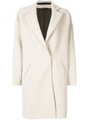 Однобортное пальто 32 Paradis Sprung Frères. Цвет: телесный