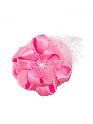 Бант Маркиза 12см розовый Миниледи. Цвет: розовый