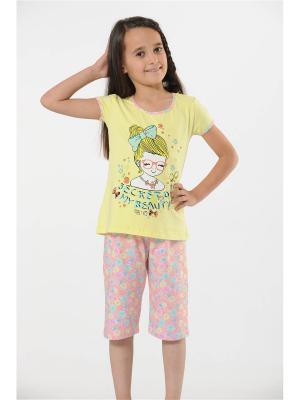 Пижама OZKAN UNDERWEAR. Цвет: желтый